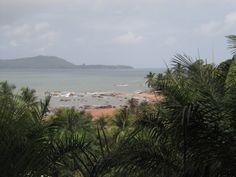 #Guinee, #VoyageGuinee, #IlesdeLoos, #Kassa. Une balade sur l'île de Kassa entre les palmiers.