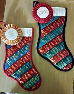 Hendershot Hounds Quilts Ribbon stockings