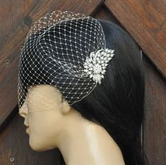 BIRDCAGE VEIL ,bridal comb, (2 items),bridal veil wedding, Bridal Hair comb,,bridal head piece,bridal hair accessorieswith. $59.00, via Etsy.