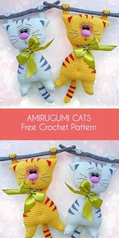 Amigurumi Cats Free Crochet Pattern – Audrey-E.Amigurumi Cats Free Häkelanleitung – Jessica Ann – Join the world of Models Of Crochet Toys Free, Any Child Will Love The New 2019 - Page 7 of 30 - apronbasket . This time we bring you ami c Crochet Cat Pattern, Crochet Patterns Amigurumi, Crochet Dolls, Free Pattern, Chat Crochet, Crochet Baby, Free Crochet, Free Knitting, Crochet Crafts