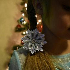 Satin Snowflake. Christmas and New Year Gift. by AngelinasFlowers