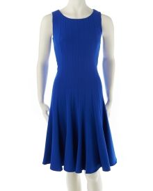 Sleeveless Pleated A-Line Dress