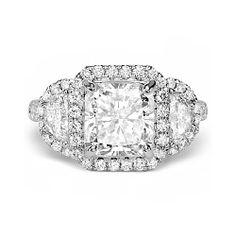 4.77ct G VS2 RADIANT CUT DIAMOND ENGAGEMENT RING 18K WHITE GOLD http://www.larrysfinejewelryinc.com