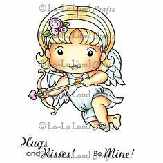 La-La Land Cling Mount Rubber Stamp - Cupid Marci