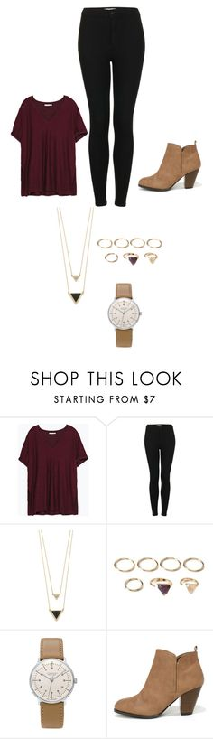 """""""Untitled #33"""" by heyairca ❤ liked on Polyvore featuring Zara, Topshop, House of Harlow 1960, Forever 21, Junghans and Qupid"""