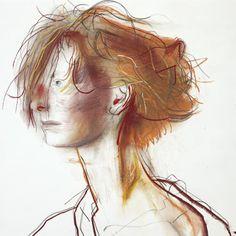 "John Patrick Byrne, ""Tilda Swinton"", 19.2 x 27 inches (48.70 x 68.60 cm), pastel on paper, 2001"
