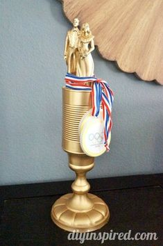 Couples Olympics Games and Ideas- Cheap and Easy DIY trophy