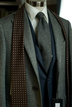 Really digging the scarf. Enjoy the variation in texture of the outfit.
