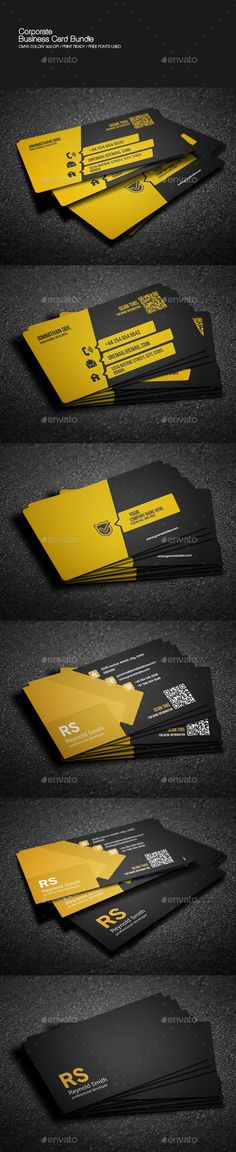 Corporate Business Card Bundle Template PSD | Buy and Download: http://graphicriver.net/item/corporate-business-card-bundle/8973816?WT.ac=category_thumb&WT.z_author=nazmul57&ref=ksioks