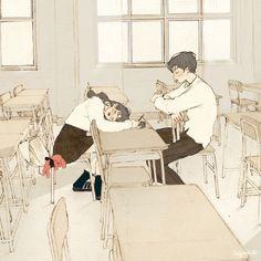 韩国插画师:살구(salgoo)作品