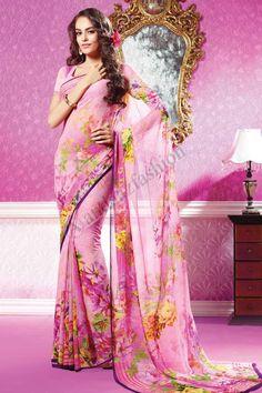 ROSE GEORGETTE SAREE, Conception n ° DMV7058, Prix: 87,36 €, Type de robe: Saree Tissu: Georgette Couleur: Rose Embellissements: Borderless et imprimés Pallu Pour plus de détails visitez ici @ http://www.andaazfashion.fr/womens/sarees/pink-georgette-saree-dmv7058.html