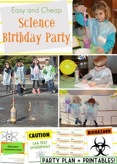 Easy and Cheap Science Birthday Party