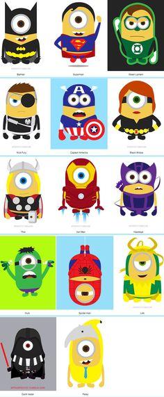 minions are happy no matter what they do! Minion Superhero, Superhero Classroom, Superhero Cake, Amor Minions, Minions Love, Images Star Wars, Minion Party, Cartoon Characters, Captain America