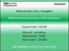 Additionally, prices depend on the height and width of the slats. The larger and thicker the slats, the stronger are the roller shutters, and prices go up. Roller Shutters, Window Shutters, Rolling Shutter, Universal Remote Control, Shutter Doors, Science And Technology, In The Heights, Security Shutters, Rolls