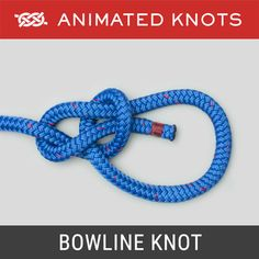 The Bowline Knot makes a reasonably secure loop in the end of a piece of rope. - The Bowline Knot makes a reasonably secure loop in the end of a piece of rope. It has many uses such as to fasten a mooring line to a ring or a post. Animated Knots By Grog, Prusik Knot, Lanyard Knot, Scout Knots, Sailing Knots, Bowline Knot, Reef Knot, Survival Knots, Knots Guide