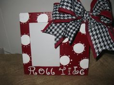 Alabama Roll Tide Picture Frame Roll Tide by TallahatchieDesigns, $16.00