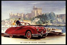 Reprint of a Vintage British Austin A90 Car Poster