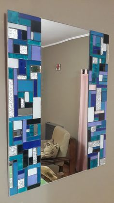 Mirror Mosaic, Mosaic Art, Mosaic Glass, Stained Glass, Earth And Space Science, Earth From Space, Modern Art Paintings, Painted Furniture, Tiles