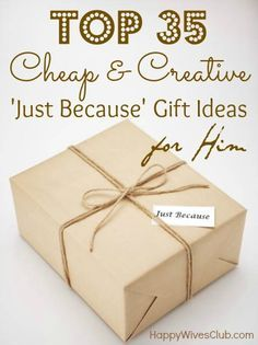 Top 35 Cheap & Creative Gift Ideas for Him  especially like the work survival kit and picnic in the living room