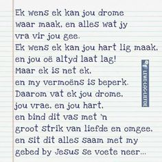 Vir my krose xx Best Quotes, Love Quotes, Funny Quotes, Inspirational Quotes, Prayer For Loved Ones, 21st Birthday Cards, 21 Birthday, Afrikaanse Quotes, Friendship Poems