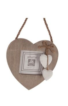 Hanging Heart Photo Frame @ rosefields.co.uk