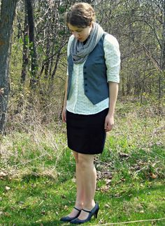 Black, gray, and white - plus, stripes and polka dots! A new post is up on Country Girl, City Fashion.