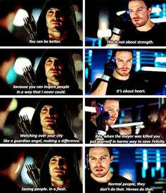 How to inspire super heroes in training: A guide by Oliver Queen. #Arrow