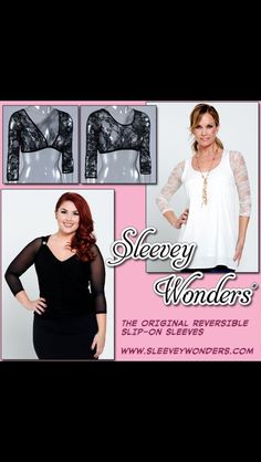 Fashion Solution.  Wear your reversible slip on sleeves under ANY sleeveless!!!! www.sleeveywonders.com Instagram SleeveyWondersjenn