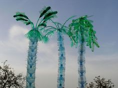 """Since the work of Veronika Richterová is set mostly in the field of art from plastic bottles. According to the artist: """"When I foun. Water Bottle Crafts, Plastic Bottle Art, Plastic Art, Sculpture Art, Sculptures, Hawaiian Luau Party, Recycled Art, Illustrations, Amazing Art"""