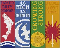 Game of Thrones Bookmarks- Cross Stitch Patterns 2 by black-lupin.deviantart.com