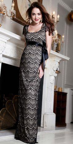 Flutter #Maternity Dress Long (Black) by Tiffany Rose