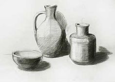 beginner pencil drawing exercise | Large drawing of still life
