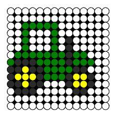 Cute Tractor Perler Bead Pattern / Bead Sprite