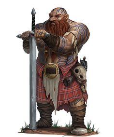 Kilted Dwarf by RogierB on DeviantArt