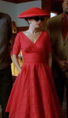 This dress is the perfect cut, but I don't think I could pull off that shade of…