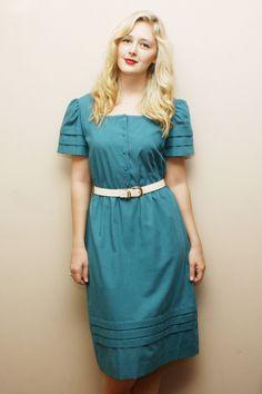@Jessica Shumway Teal Leslie Fay Dress