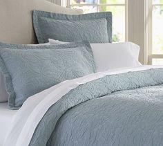 beautiful in cream, duvet cover that looks like a quilt   Valerie Floral Matelasse Duvet Cover & Sham #potterybarn