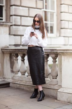 20 Badass Leather Skirt Looks to Copy ThisSpring | StyleCaster