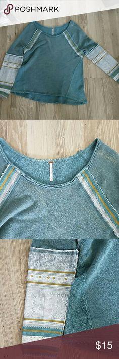Free People Sweatshirt Some wear.  Dust Mark on shoulder Free People Tops Sweatshirts & Hoodies