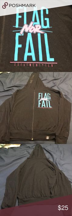 cce40a0e2b7f Flag Nor Fail Track Hoodie Lightweight flag nor fail track hoodie. The draw  string is