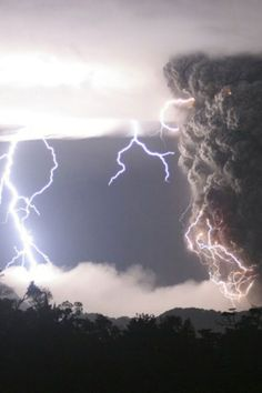 if it is not a fake - very stunning! I love thunderstorms -  and volcanos! but both - incredibile