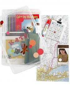 Being prepared during a road trip or a long vacation is half the battle. A great way to keep kids entertained (and out of trouble) is to put together a travel kit including some fun activities. We added some craft supplies, a book, snacks, a journal, and more, but the best part is you can customize the kit to your child's interests.