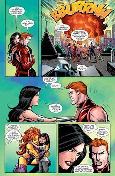 """Convergence: The Titans "" Good on you, Donna. Dc Comics Heroes, Fun Comics, Nightwing, Batgirl, Robin The Boy Wonder, Teen Titans Starfire, Raven Beast Boy, Comic Book Panels, Detective Comics"