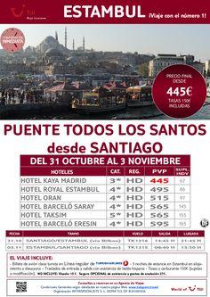 Puente Todos los Santos en ESTAMBUL desde Santiago. Precio final desde 445€ - http://zocotours.com/puente-todos-los-santos-en-estambul-desde-santiago-precio-final-desde-445e/