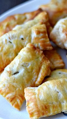 Sausage Rolls...sausage flavored with sage and wrapped in puff pastry to create these yummy appetizers.