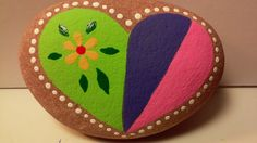 Painted rock Heart by PlaceForYou on Etsy