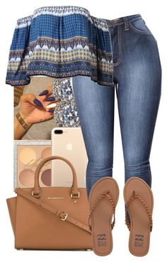 """Movies"" by guwapshawty ❤ liked on Polyvore featuring Nadri, MICHAEL Michael Kors and Billabong"