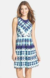FELICITY & COCO Stripe Stretch Cotton Fit & Flare Dress (Nordstrom Exclusive)