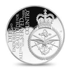 The Queens Diamond Jubilee Head of Armed Forces Silver Proof
