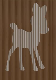 Cut And Fold Book folding pattern of a Deer FULL by BookArtCo